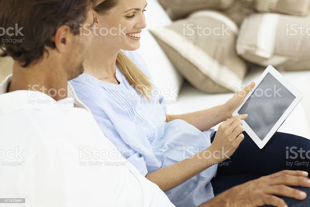 Having fun with technology royalty-free stock photo