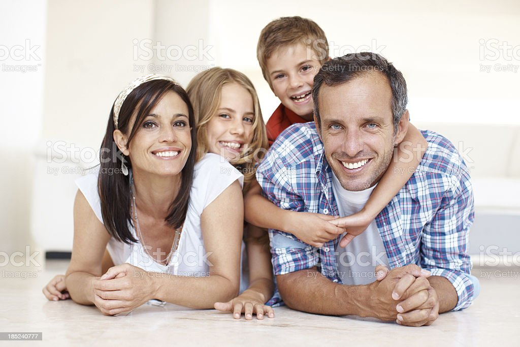 Having fun with the family! royalty-free stock photo