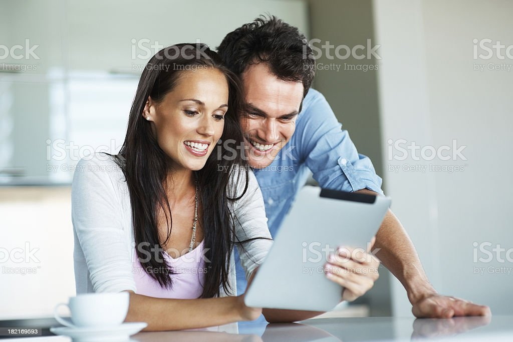Having fun with touchpad royalty-free stock photo