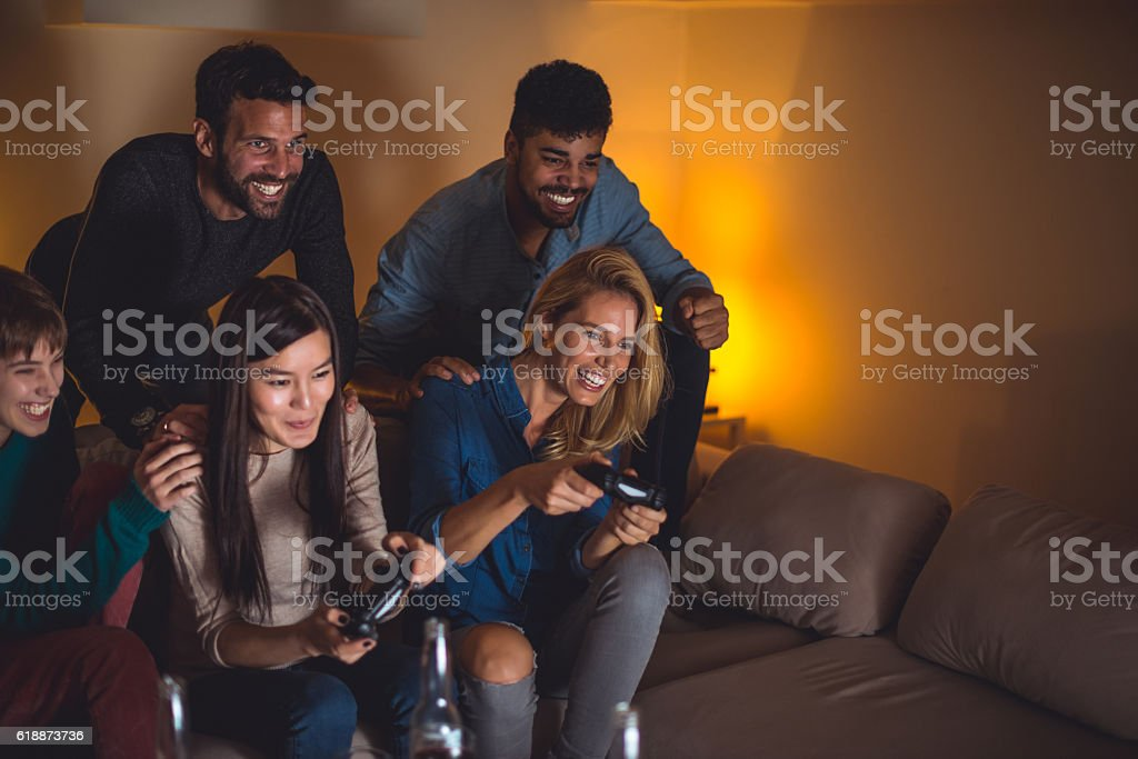 Having game competition stock photo