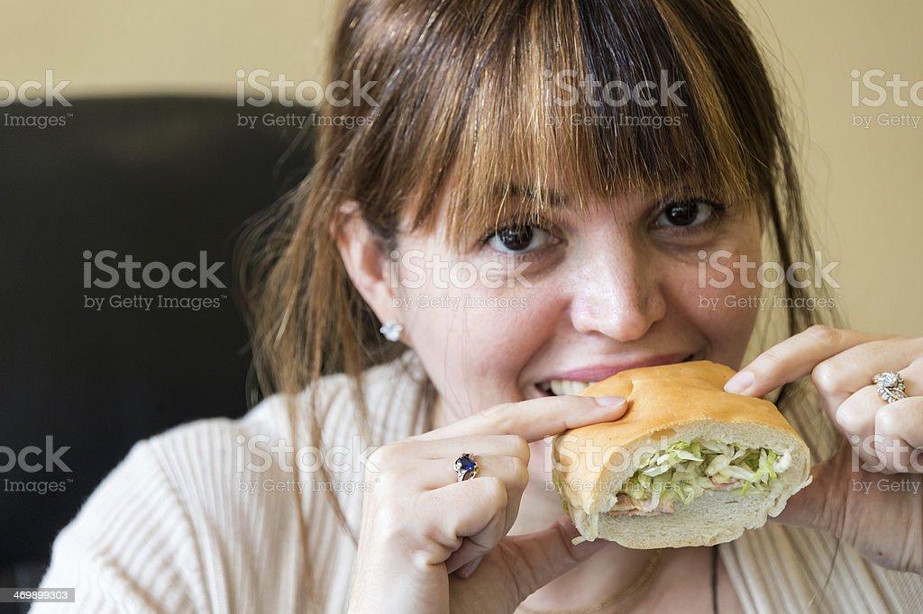 Having lunch stock photo