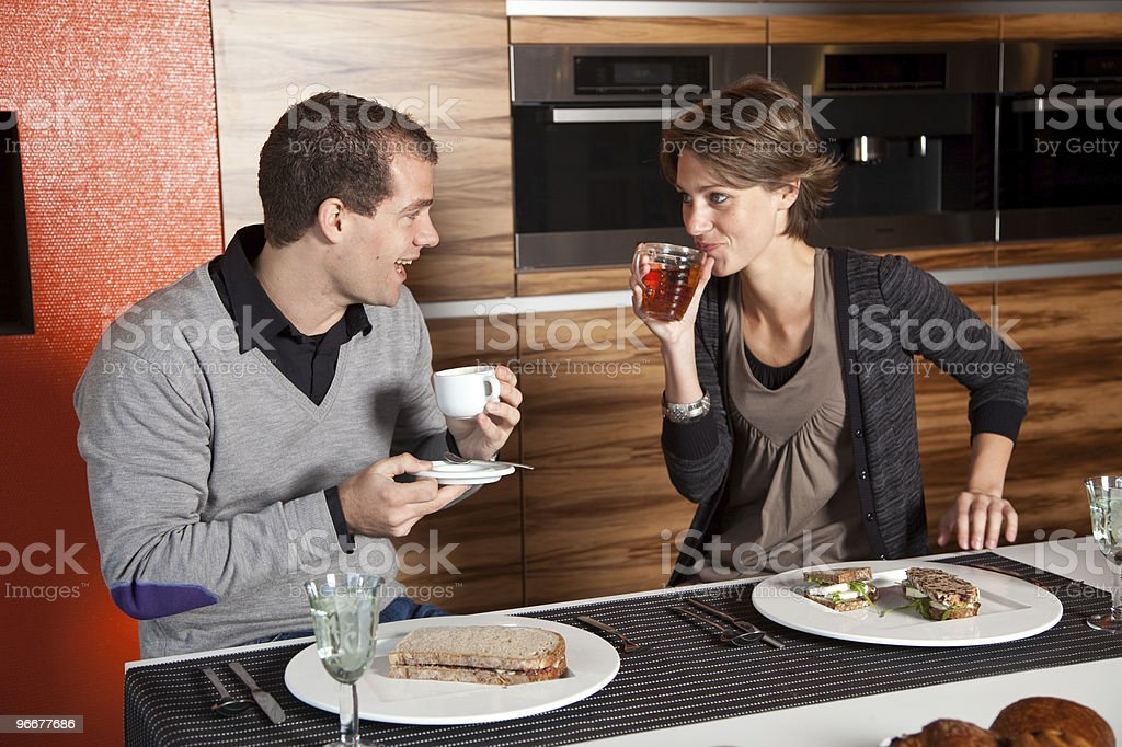 Having lunch together royalty-free stock photo