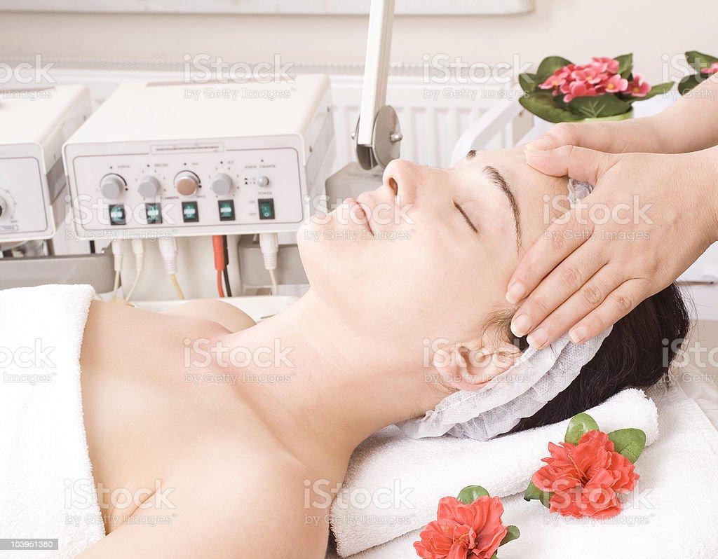 Having Massage stock photo