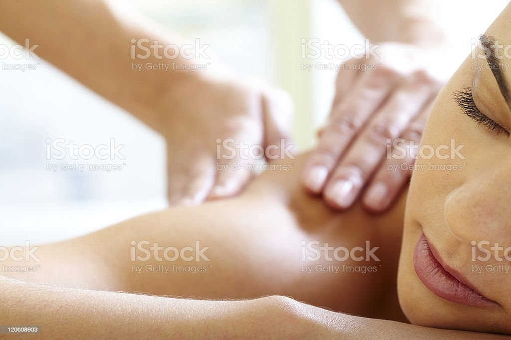 Having massage stock photo