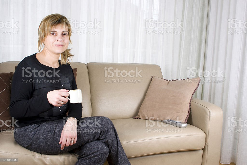 Having my coffee!! royalty-free stock photo