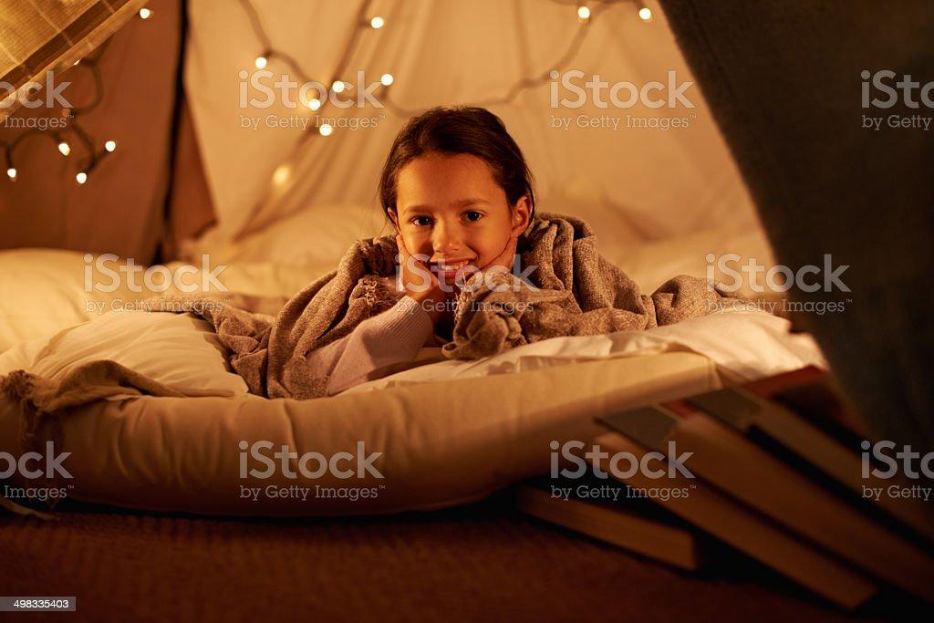 Having my own sleepover! stock photo