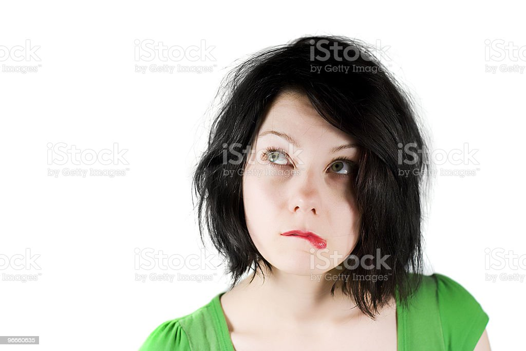 Having second thoughts royalty-free stock photo
