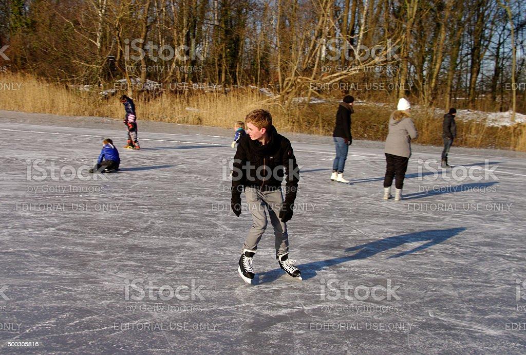 Having skate fun stock photo