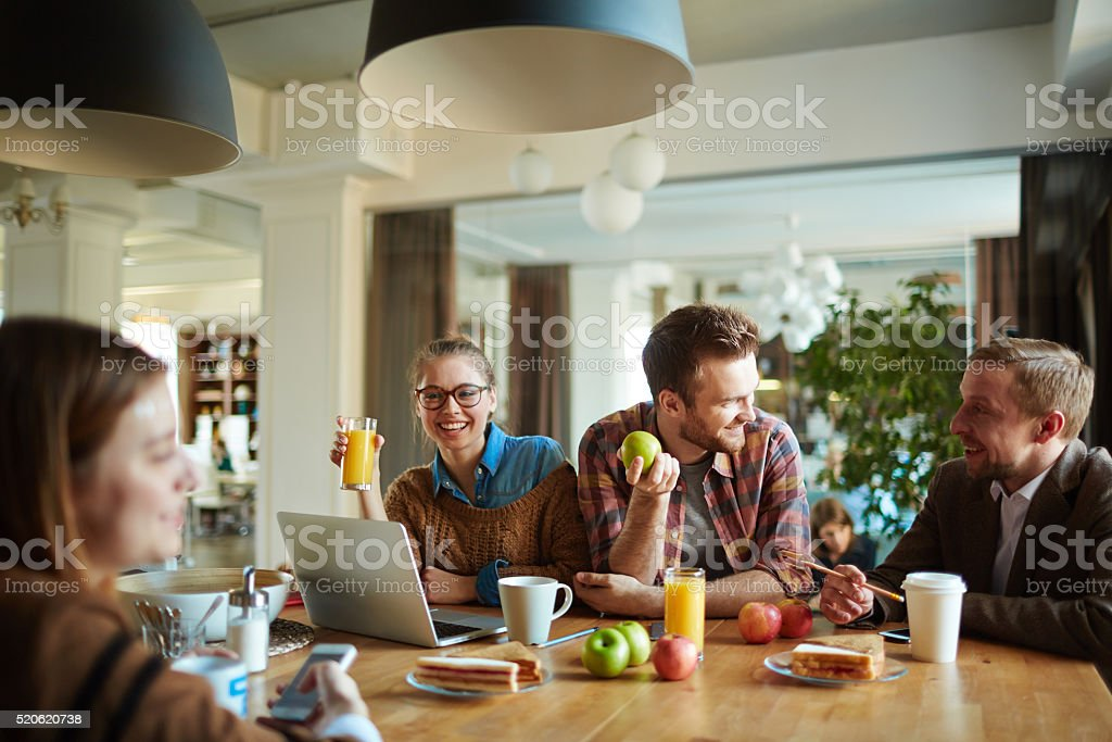 Having snack stock photo