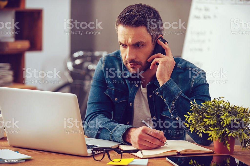 Having so much work to do. stock photo
