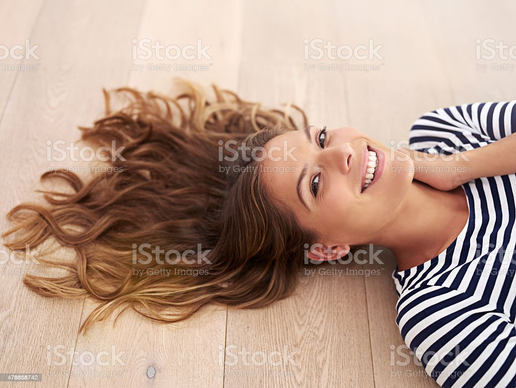 Having some me-time stock photo