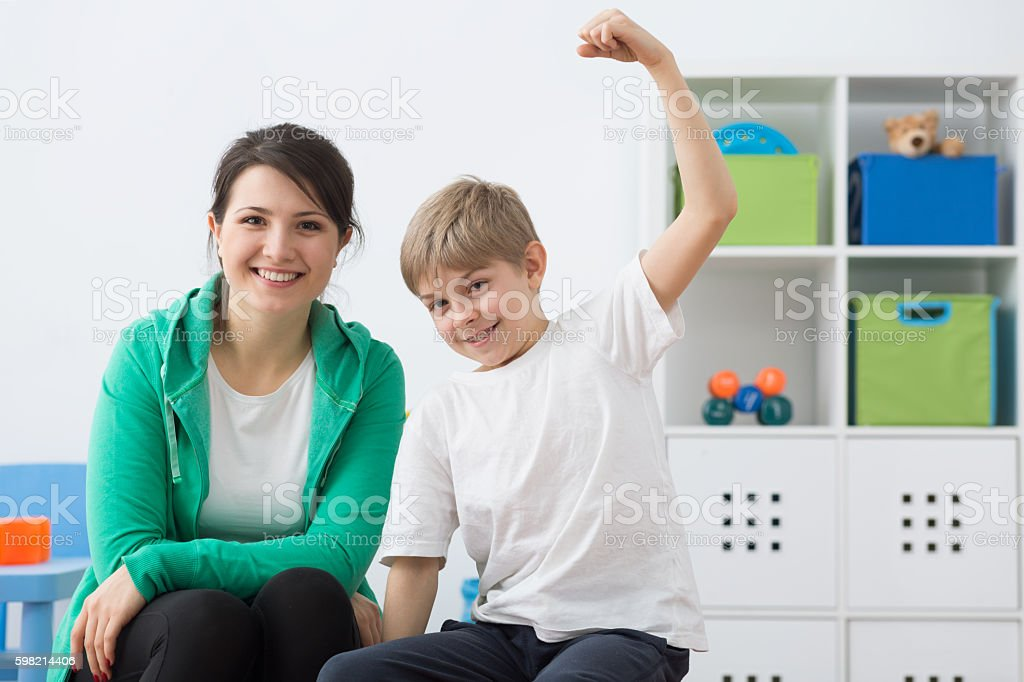 Having strength to giving his best stock photo