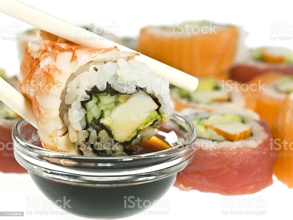 Having sushi royalty-free stock photo