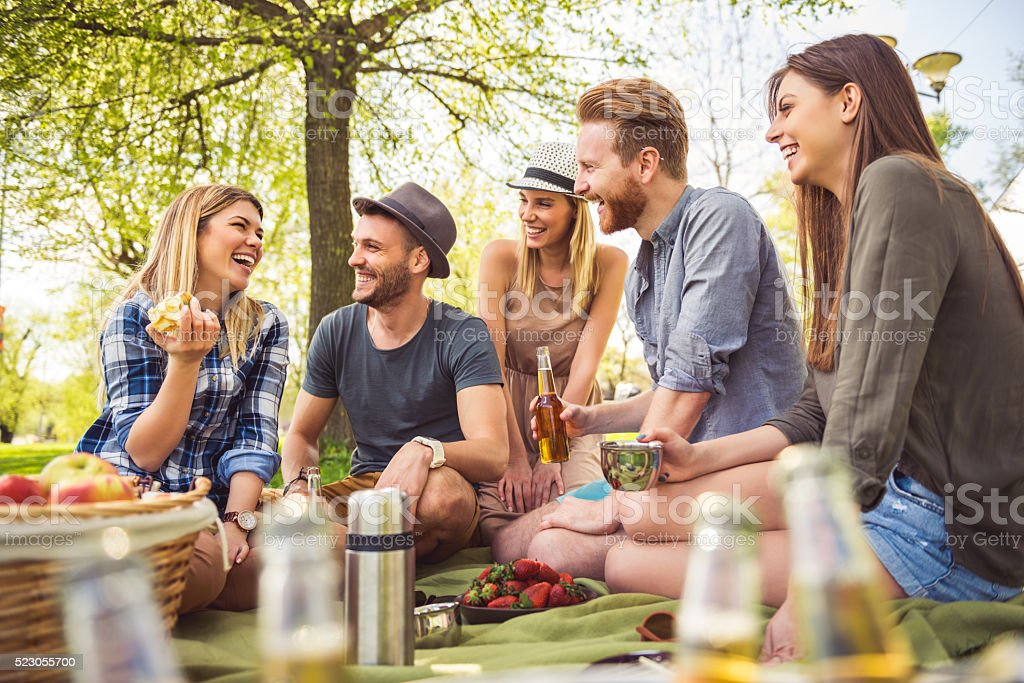 Having the perfect picnic stock photo