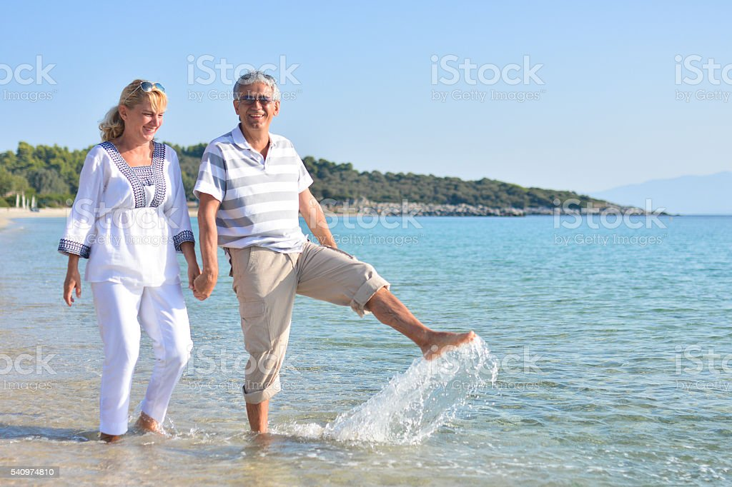 Having the time of my life stock photo