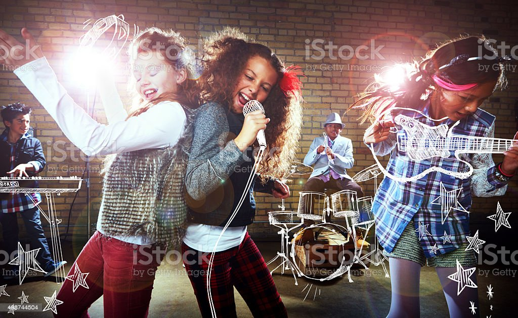 Having the time of their lives stock photo