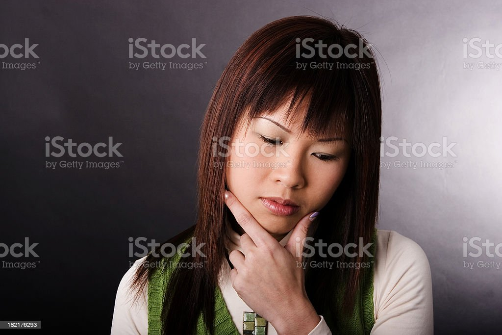 Having Thoughts royalty-free stock photo