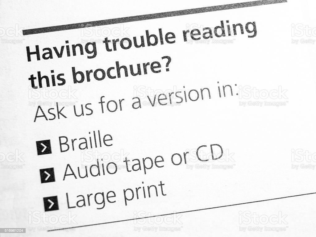 Having trouble reading? stock photo