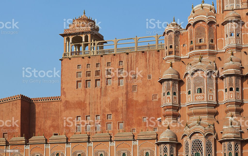 Hawa Mahal in Jaipur stock photo