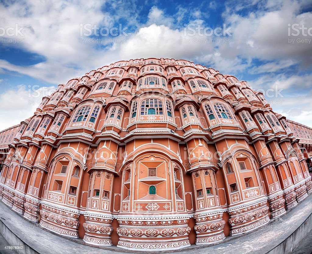 Hawa Mahal in Rajasthan stock photo