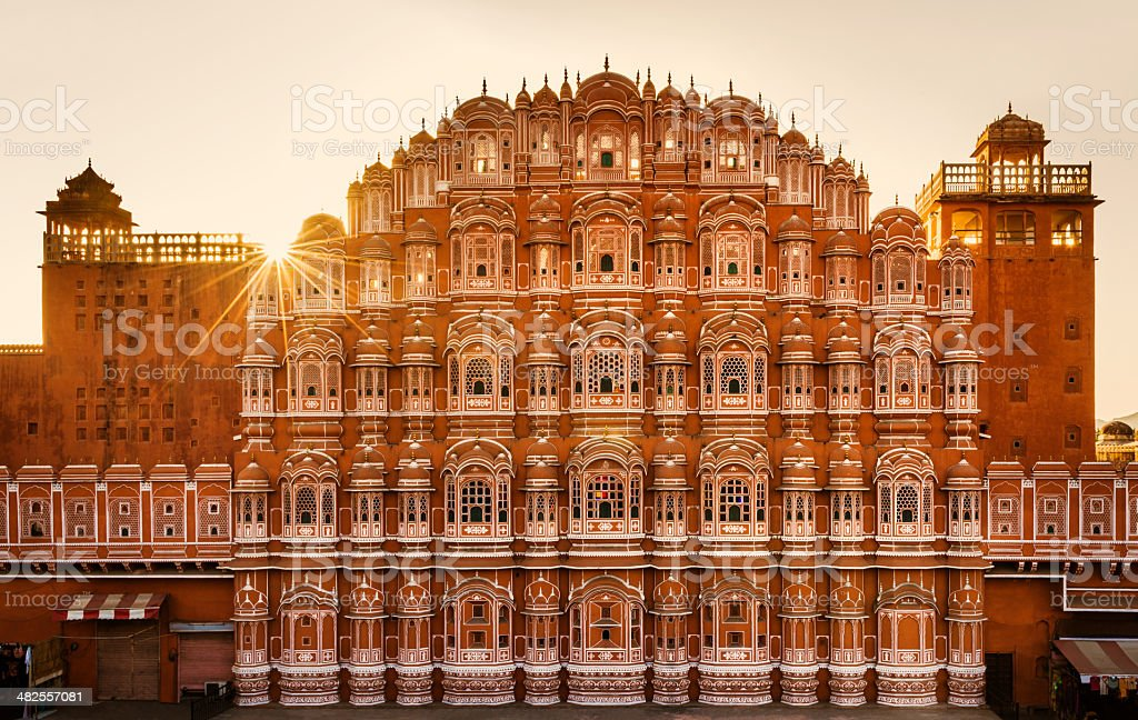 Hawa Mahal (Palace of the Winds) Jaipur, India stock photo