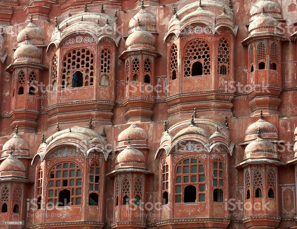 Hawa Mahal or Palace of the Winds,Japur,Rajasthan,India stock photo