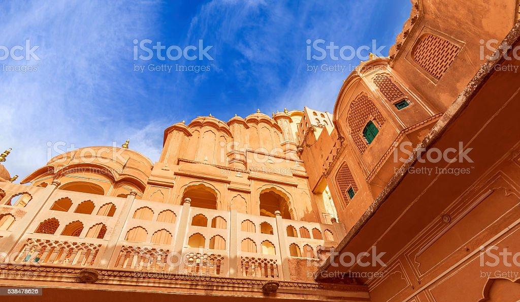 Hawa Mahal Palace (Palace of Winds), famous landmark of Jaipur stock photo