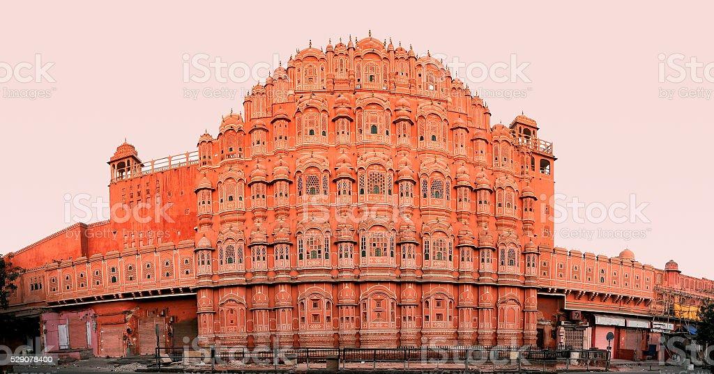 Hawa Mahal palace in Jaipur, Rajasthan, India stock photo