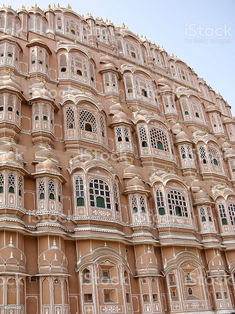 Hawa Mahal Palace of the Wind stock photo