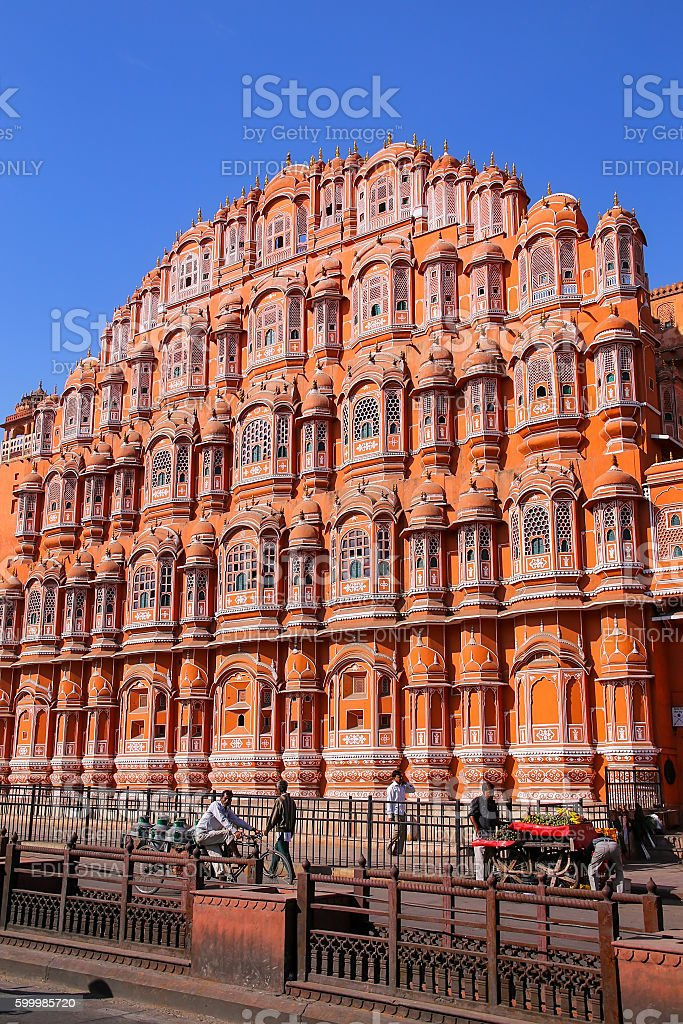 Hawa Mahal - Palace of the Winds in Jaipur, India. stock photo