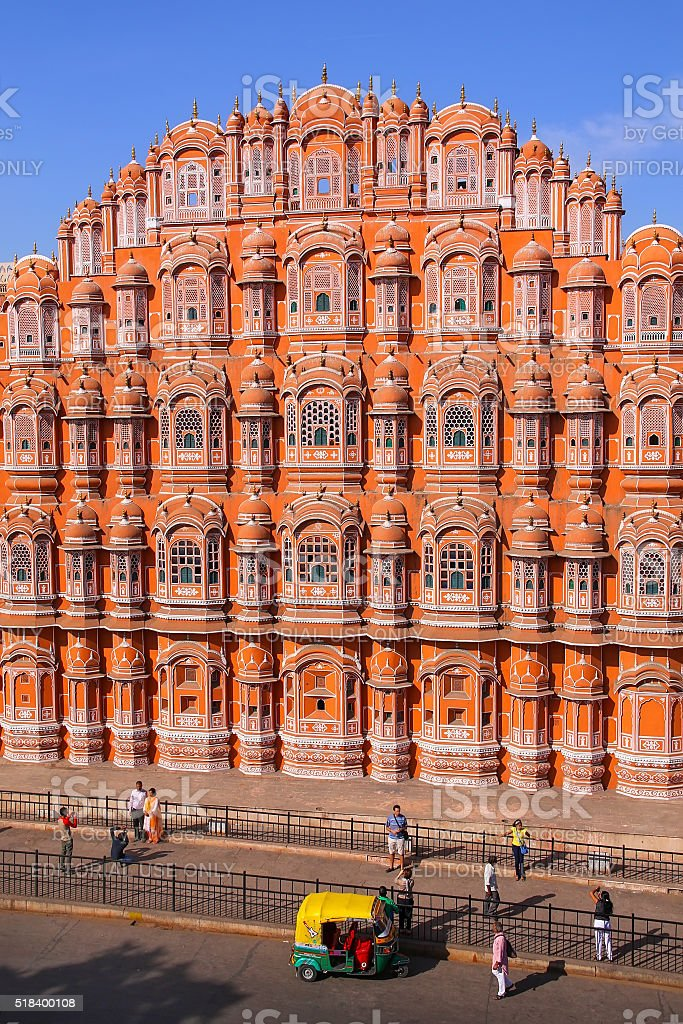 Hawa Mahal - Palace of the Winds in Jaipur stock photo