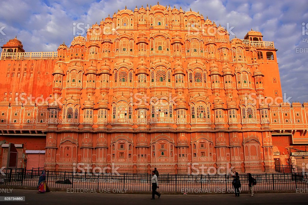Hawa Mahal Palace of the Winds in Jaipur, Rajasthan, India. stock photo