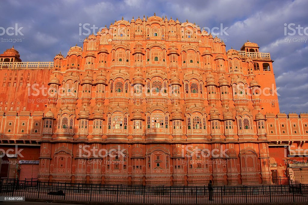 Hawa Mahal - Palace of the Winds in Jaipur, Rajasthan stock photo