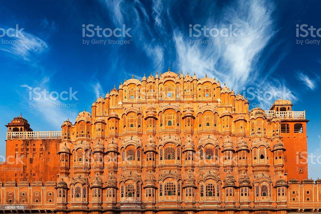 Hawa Mahal Palace of the Winds, Jaipur, Rajasthan stock photo