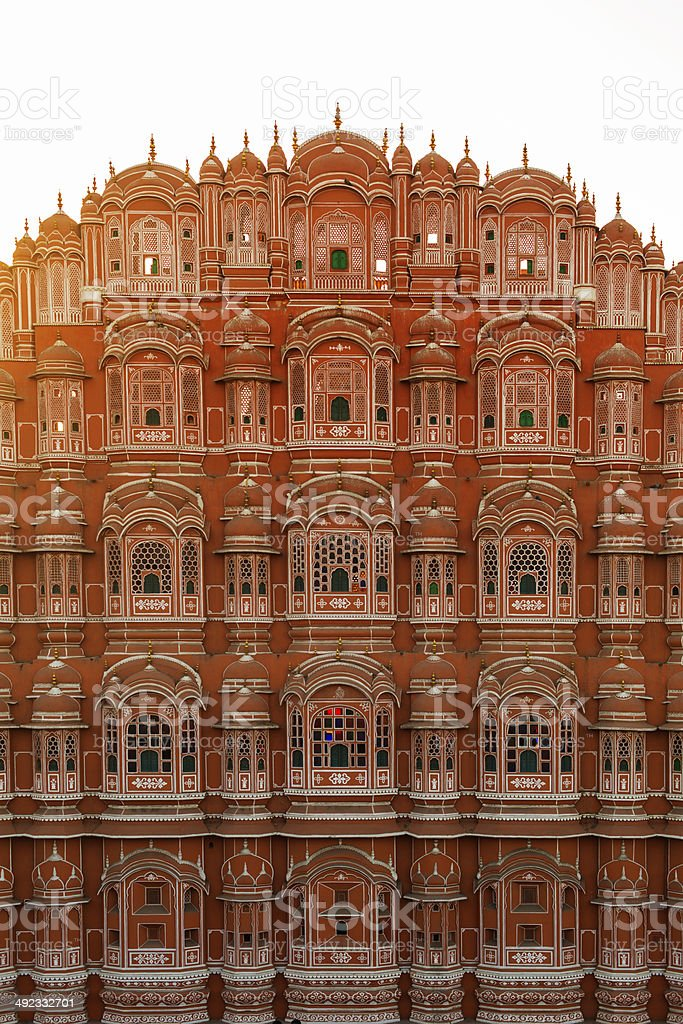 Hawa Mahal Palace of the Winds Sunset stock photo