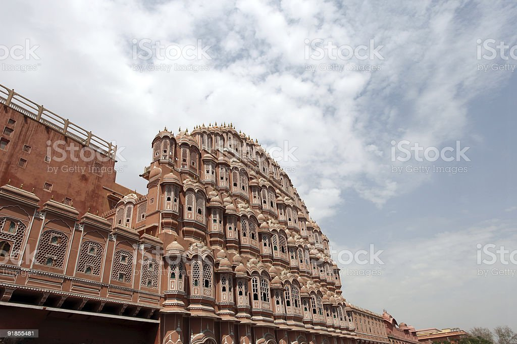 Hawa Mahal (Palace of the Winds) stock photo