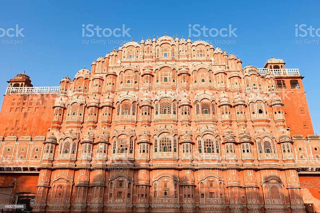 Hawa Mahal, the Palace of Winds stock photo