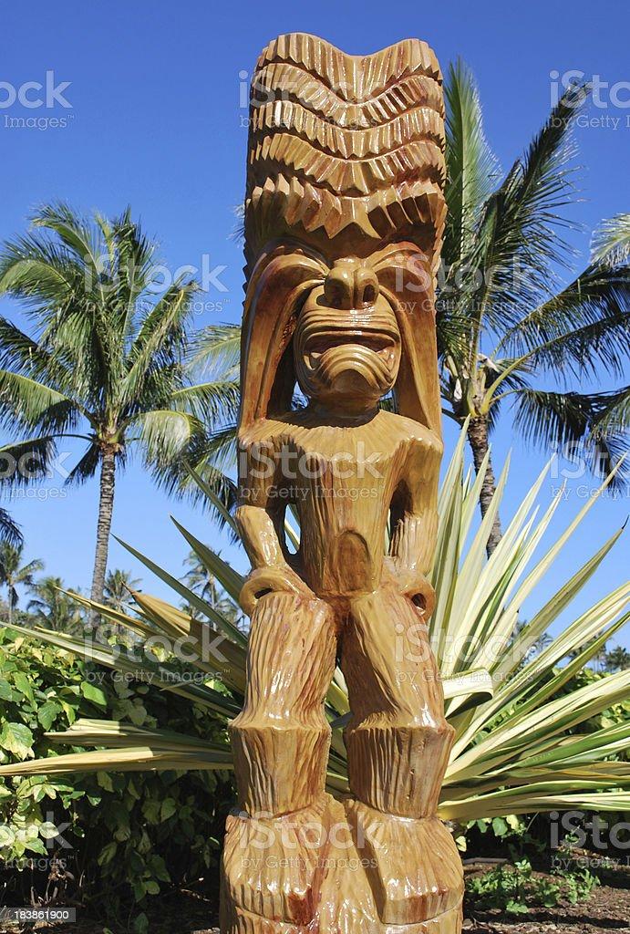 Hawaian Wooden idols royalty-free stock photo