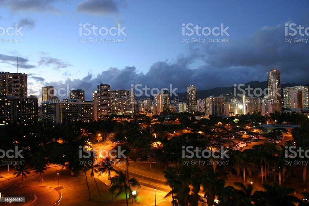 Hawaii at Night royalty-free stock photo
