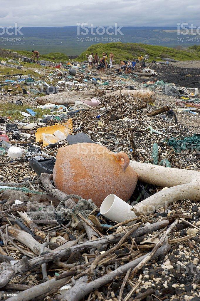 hawaii beach debris royalty-free stock photo