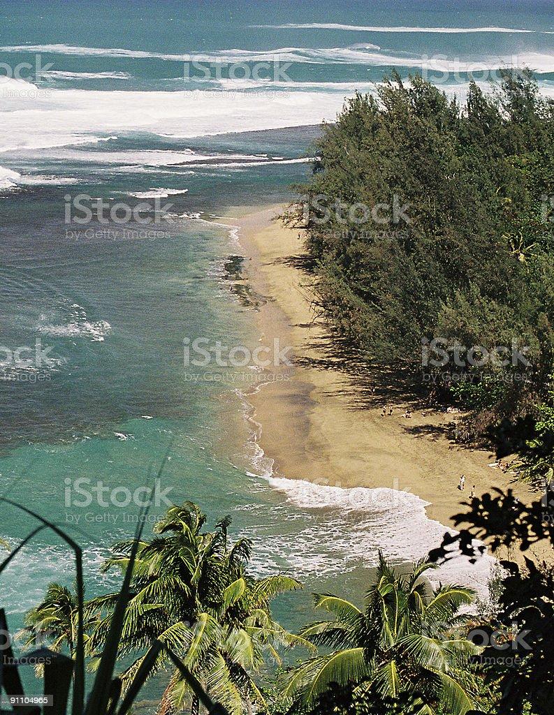 Hawaii Beach scene royalty-free stock photo