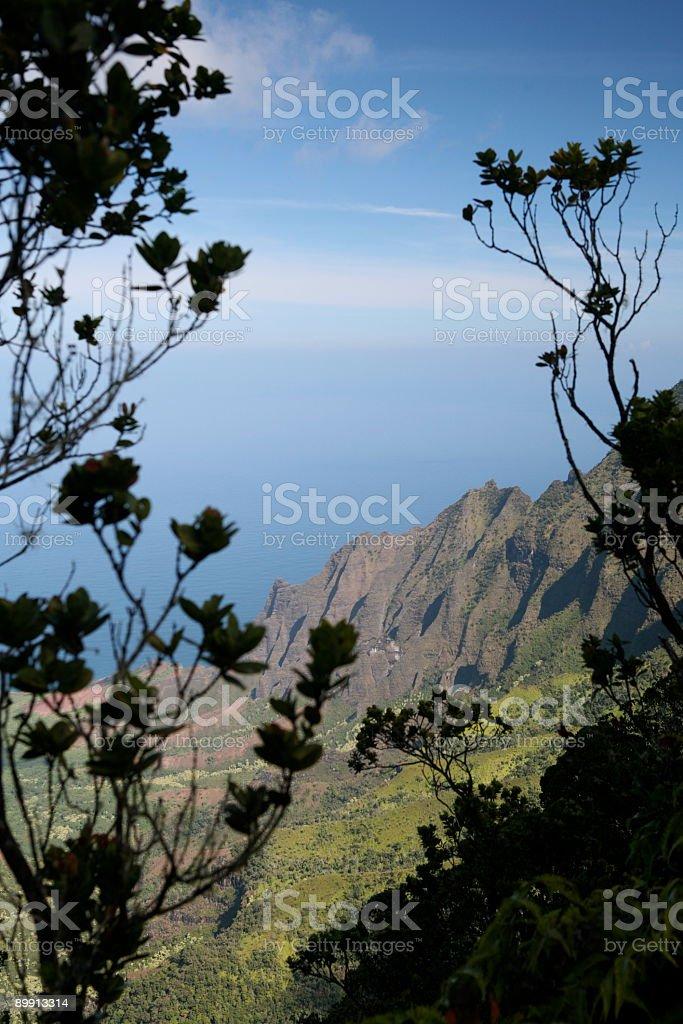 Hawaii cliffs, Napali coastline, Kalalau Valley royalty-free stock photo