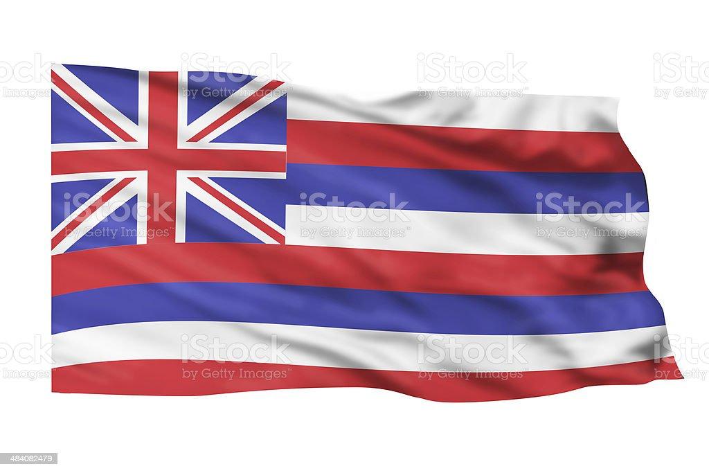 Hawaii Flag. stock photo
