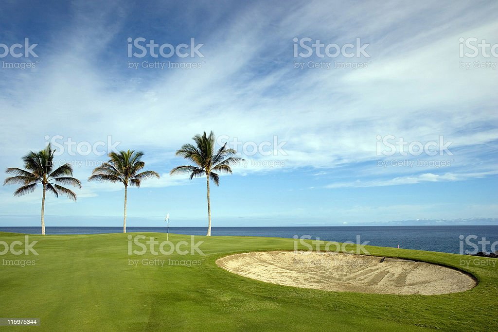 Hawaii Golf Course royalty-free stock photo