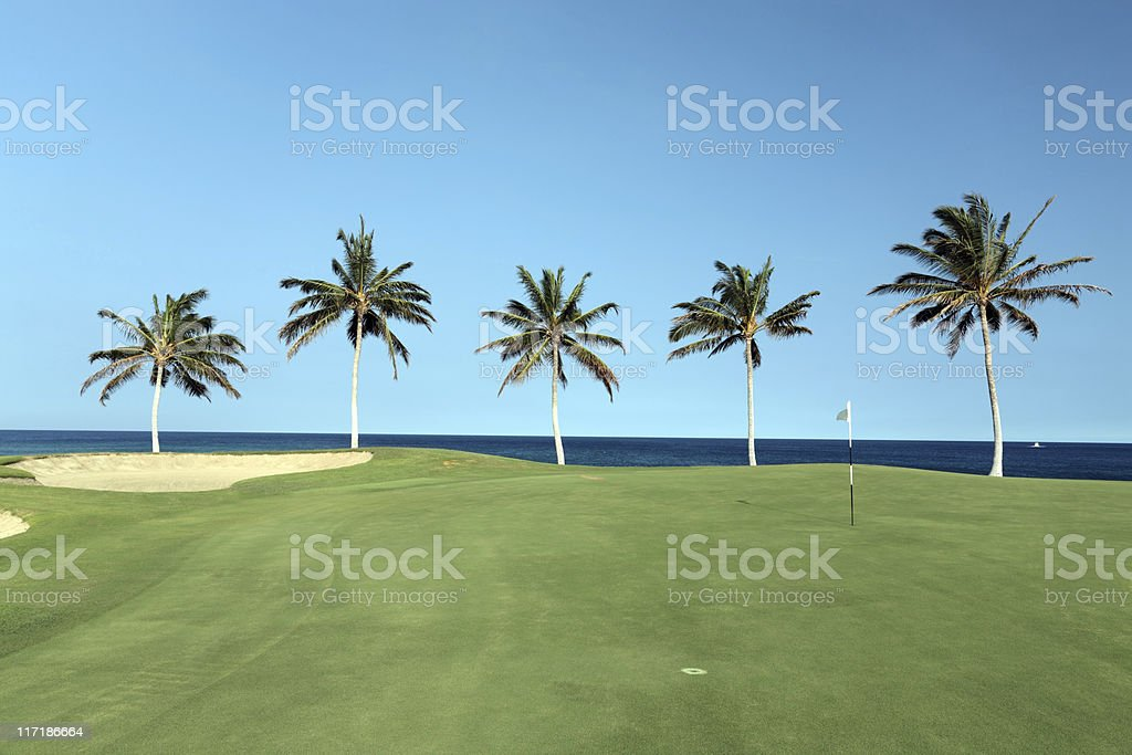 Hawaii Golf Course royalty-free stock photo