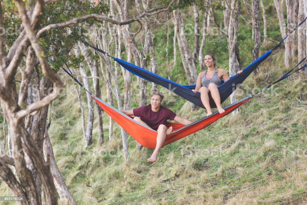 Hawaii Hammock Life stock photo