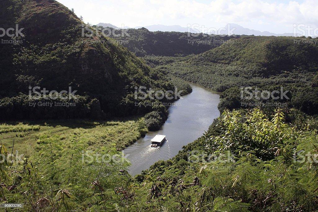 Hawaii - Hanalei River stock photo