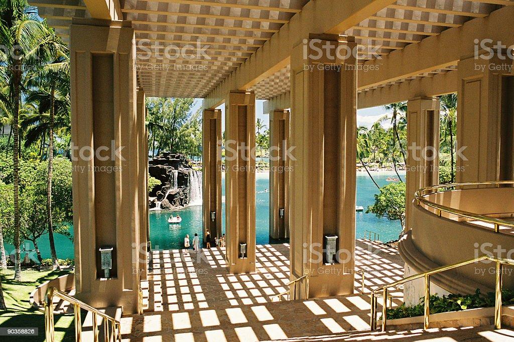 Hawaii hotel atrium royalty-free stock photo