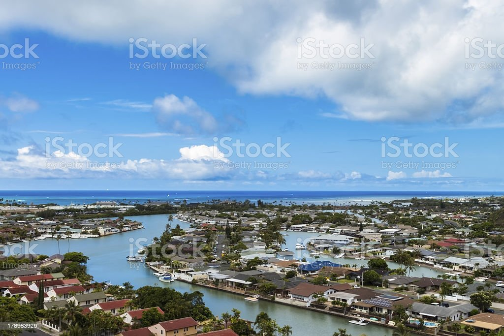 Hawaii Kai and Maunalua Bay royalty-free stock photo