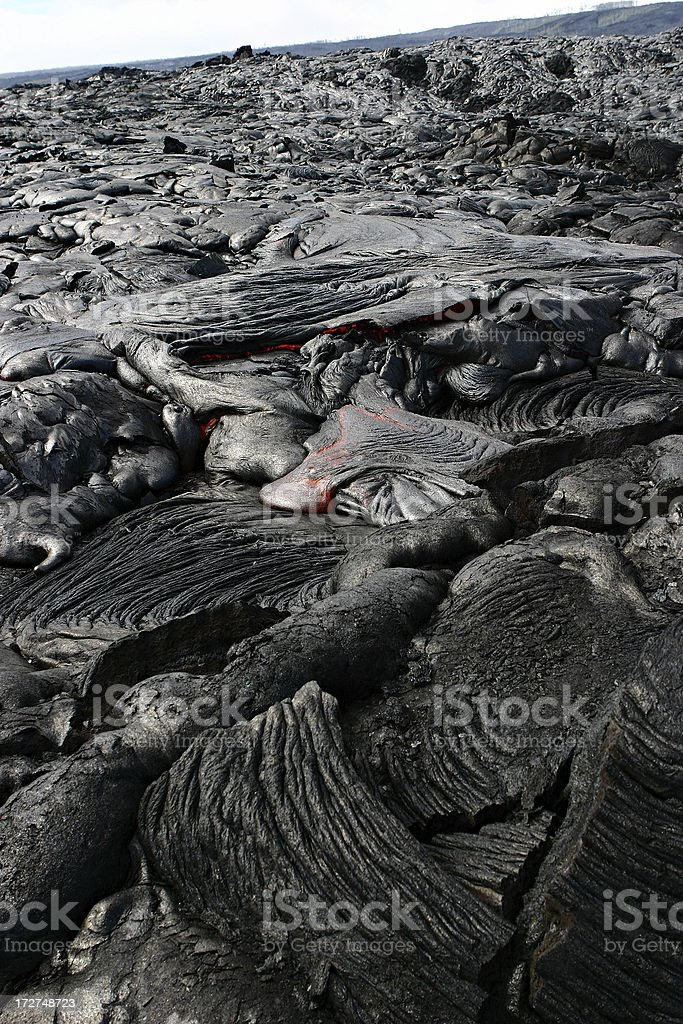 Hawaii Lava flusso foto stock royalty-free
